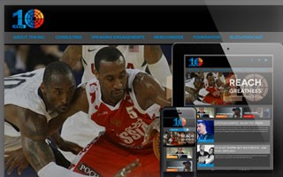 Responsive Website Design basketball great JR Holden's company 10 inc